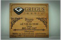 Tabliczka reklamowe Gregus Meble